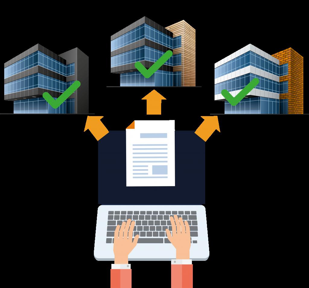 Diagrama que representa la respuesta a documentos relacionados